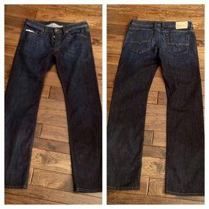 Men's Diesel Viker 33 regular straight dark jeans
